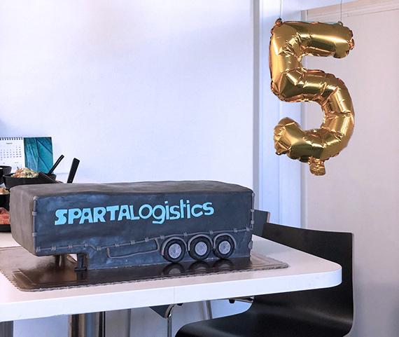 Sparta Logistics fejrer 5 års fødselsdag