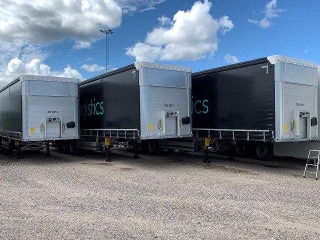 De 3 nye trailere til Sparta Logistics Riga